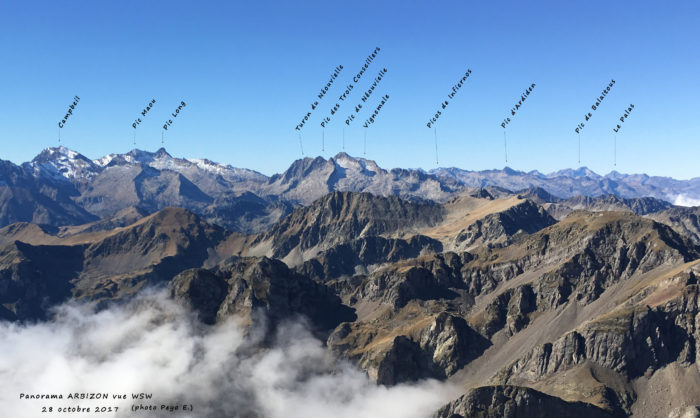 Panoramas depuis l'Arbizon